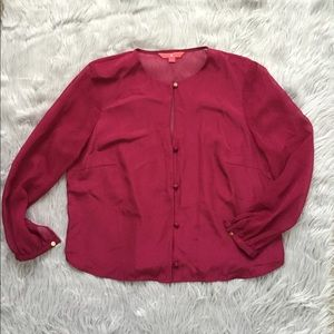 IVANKA TRUMP TOP BLOUSE PINK SIZE 12